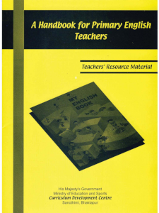 A Handbook for Primary English Teachers
